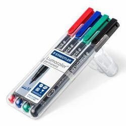2475653-Staedtler-Lumocolor-317-WP4-marcatore-permanente-Nero-Blu-Verde-Rosso miniatura 2