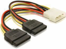 2022026-DeLOCK-Cable-Power-SATA-HDD-2x-gt-4pin-male-0-112m-DeLOCK-Stromkabel miniatura 2