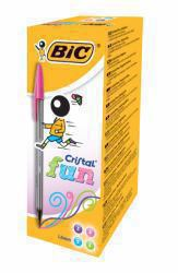 2044314-Bic-Cristal-Fun-Ballpoint-Pen-0-6mm-Line-Pink-PK20 miniatura 2
