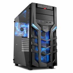 2044748-Sharkoon-DG7000-G-Midi-Tower-Nero-DG7000-G-BLUE-DG7000-G-Mini-ITX miniatura 2