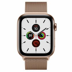 2022274-Apple-Watch-Series-5-smartwatch-Oro-OLED-Cellulare-GPS-satellitare-Ap miniatura 2