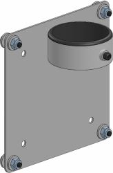 2512474-VESA-75-100-Mount-on-Lockring-for-SP2-Pole-For-use-with-SAFEGUARD-P miniatura 2