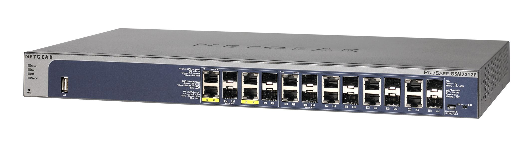 2022274-Netgear-ProSafe-GSM7212F-Gestito-L2-Grigio-Supporto-Power-over-Ethernet