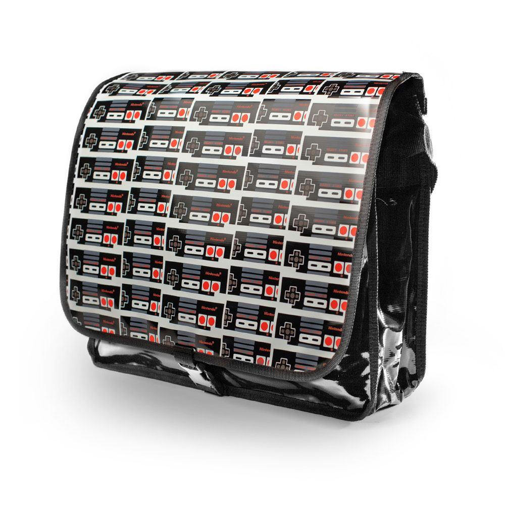 2061337-NINTENDO-Original-Classic-Controller-PVC-Messenger-Bag-with-Reversible-F