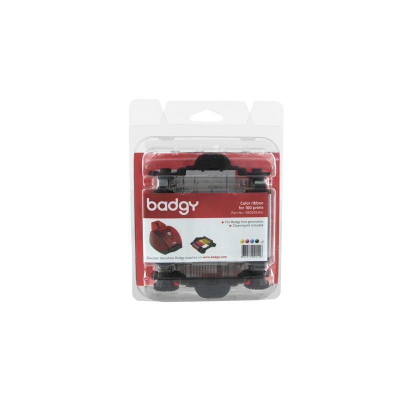 5767454-Evolis Ribbon & Cleaning Kit badgy 100p nastro per stampante 100 pagine