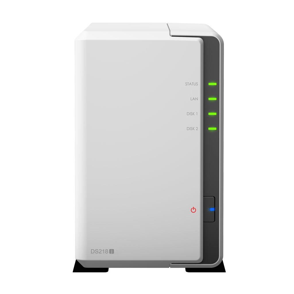 2044315-Synology-DiskStation-DS218J-Collegamento-ethernet-LAN-Compatta-Bianco-NA miniatura 1