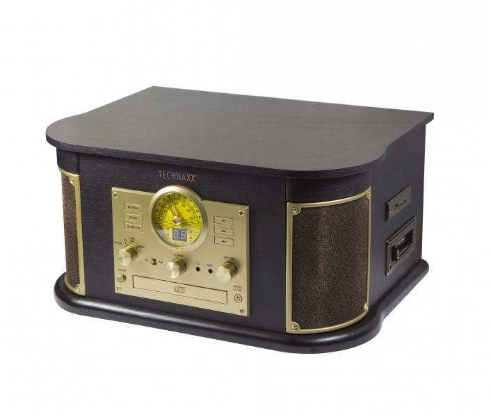 2022274-Technaxx-TX-103-Giradischi-con-trasmissione-a-cinghia-Nero-Oro-NOSTALG