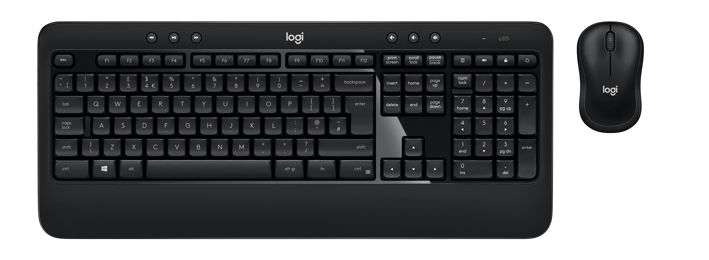 2022026-Logitech-ADVANCED-Combo-tastiera-RF-Wireless-Ceco-Nero-ADVANCED-Combo-W