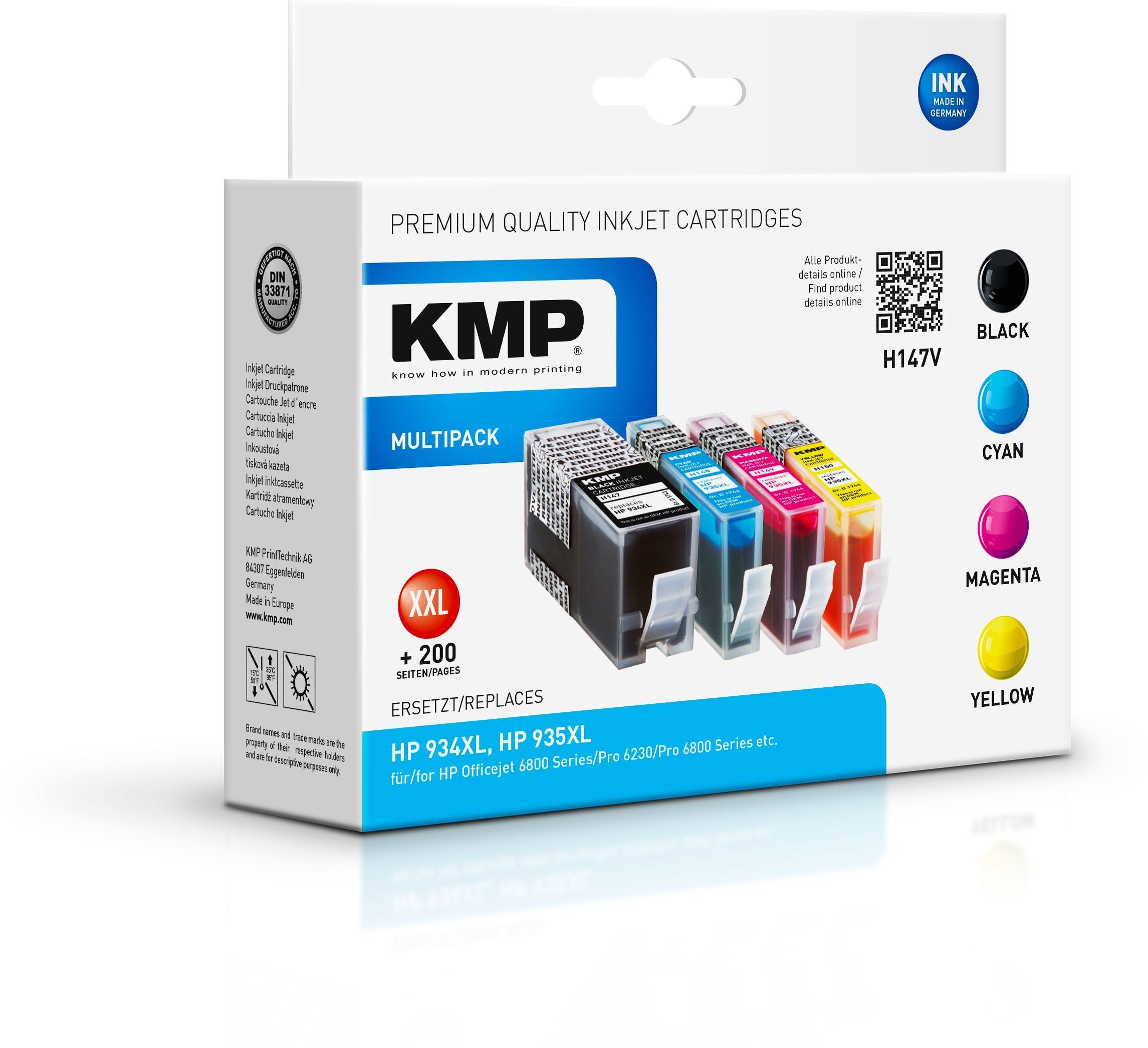 2022026-KMP-MULTIPACK-H147V-4er-Pack-Schwarz-Gelb-Cyan-Magenta-Tintenpa