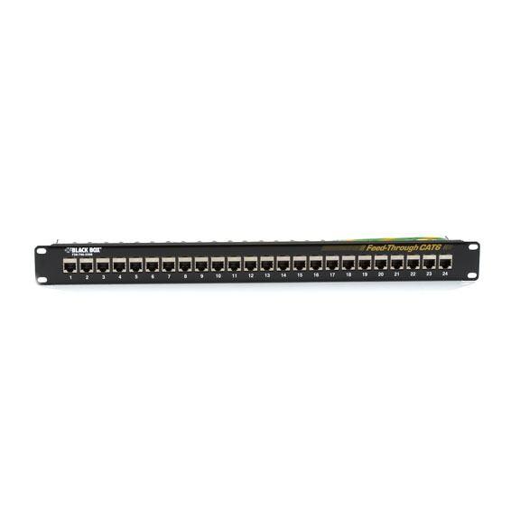 2465436-Black-Box-JPM814A-pezzo-di-pannello-CAT6-SHIELDED-24-PORT-FEED-THROUGH