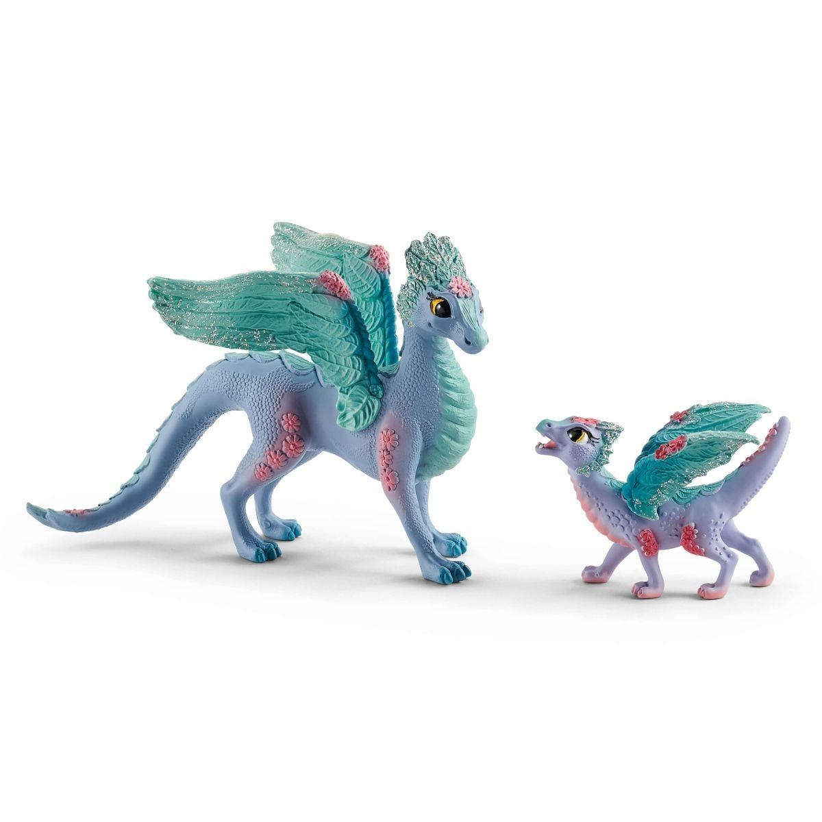 2044315-SCHLEICH-Bayala-Blossom-Dragon-Mother-and-Baby-Toy-Figures-70592