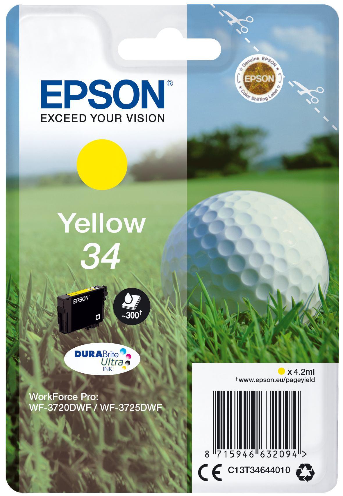 2081504-e-Golf-ball-Singlepack-Yellow-34-DURABrite-Ultra-Ink-SINGLE-YELLOW-34