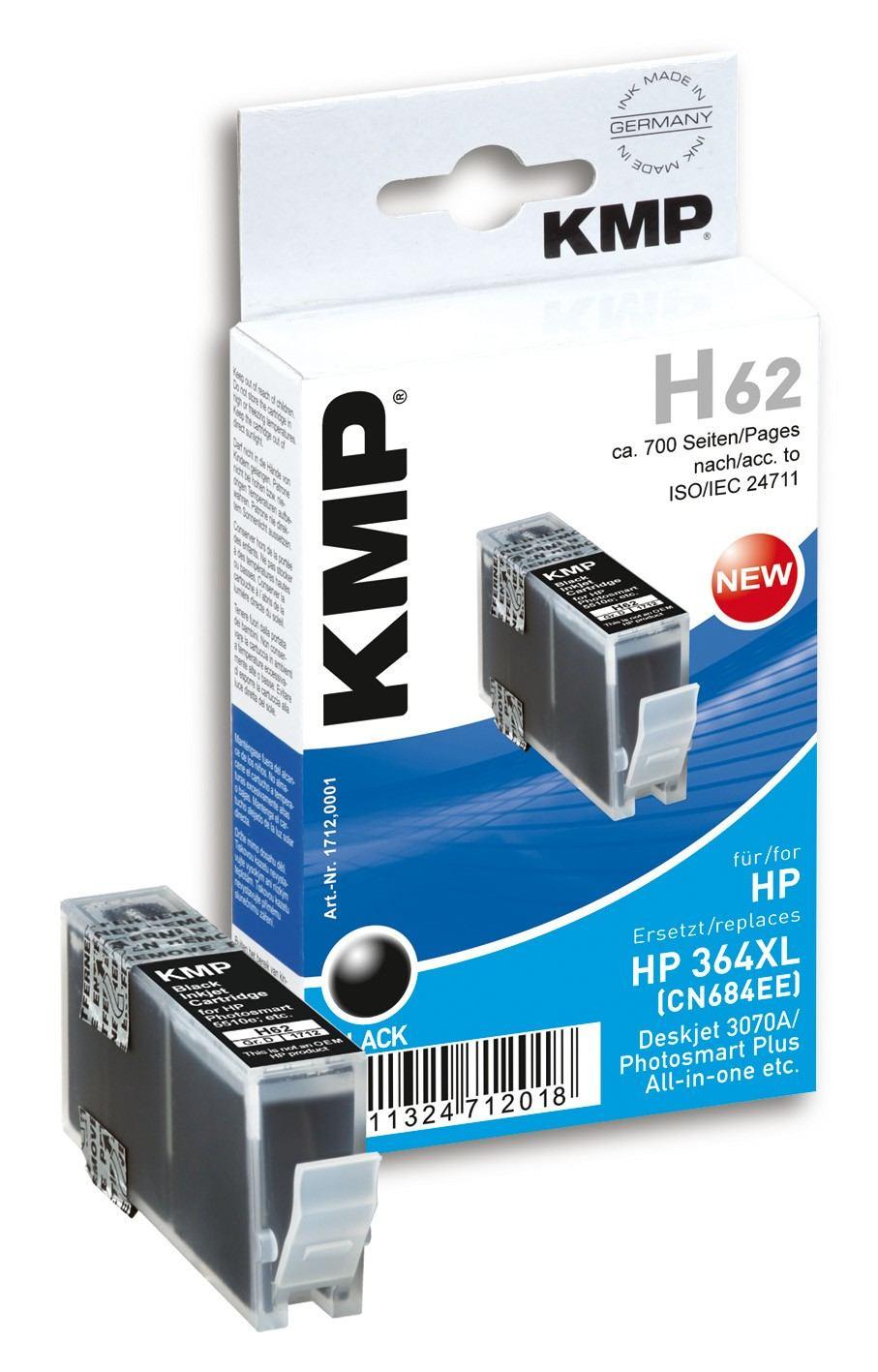 2022026-KMP-H62-cartuccia-d-039-inchiostro-Nero-KMP-H62-20-ml-Schwarz-Tintenp