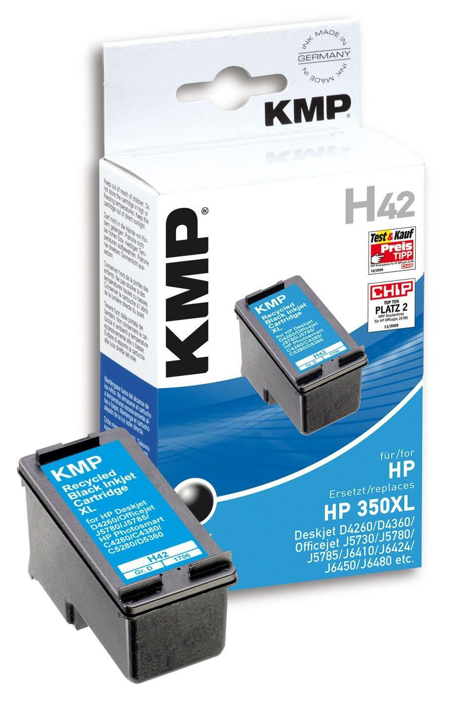 2022026-KMP-H42-cartuccia-d-039-inchiostro-Nero-1-pezzo-i-KMP-H42-25-ml-Schwar