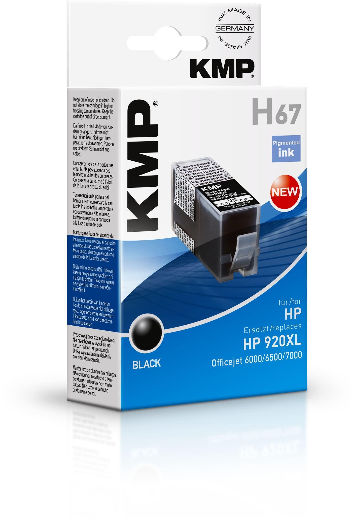2022026-KMP-H67-cartuccia-d-039-inchiostro-Nero-KMP-H67-36-ml-Schwarz-Tintenp